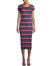 525 America Stripe Bodycon Dress - Multicolor