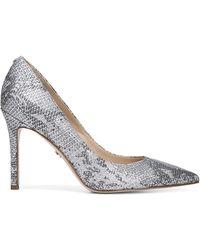 Sam Edelman Margie Snakeskin Leather Stiletto Court Shoes - Metallic