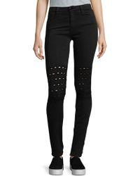 Brockenbow Skinny Cut-out Jeans - Black