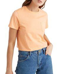 Richer Poorer Boxy Crop Front Pocket T-shirt - Blue