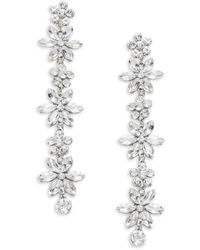 Kenneth Jay Lane Rhodium-plated & Crystal Drop Earrings - Multicolour