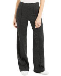 Theory Women's Melange Ponte Wide Leg Trousers - Charcoal - Size 0 - Grey