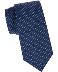 BOSS by Hugo Boss Embroidered Silk Tie - Blue
