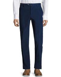 PT01 Men's Slim-fit Corduroy Pants - Off White - Size 52 (36) - Blue