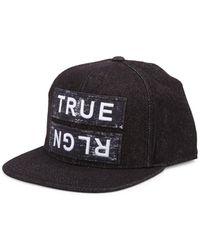 True Religion - Paper Patch Cotton Baseball Cap - Lyst