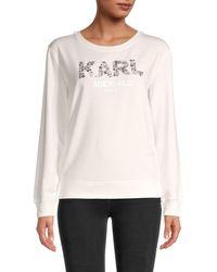 Karl Lagerfeld Embellished Logo Sweatshirt - Multicolour