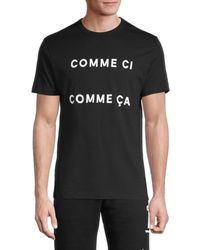 French Connection Men's Printed Cotton Tee - White - Size M