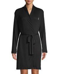 Calvin Klein - Logo Lounge Robe - Lyst