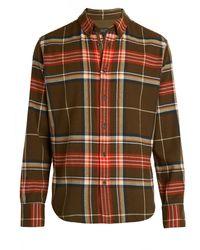 Rag & Bone Fit 2 Tomlin Plaid Cotton Flannel Shirt - Multicolour