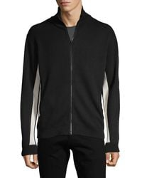 French Connection Stand Collar Full-zip Jacket - Black