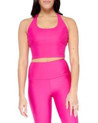 Electric Yoga Basic Crisscross Sports Bra - Pink