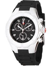 Michele Jellybean Stainless Steel Sport Silicone Strap Watch - Black