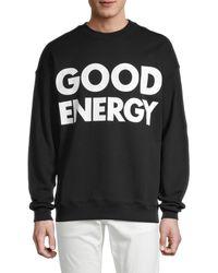 Moschino ! Good Energy Crewneck Sweatshirt - Black