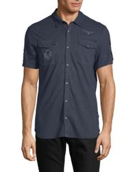 John Varvatos - Patch Short-sleeve Shirt - Lyst