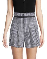 Kendall + Kylie - Belted Gingham Shorts - Lyst