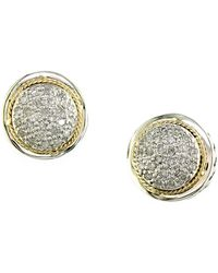 Effy Batu Sterling Silver Green Amethyst & Diamond Ring - Metallic