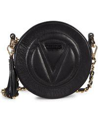 Valentino By Mario Valentino Yuki Logo Leather Crossbody - Black