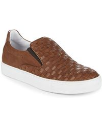 Bacco Bucci - Woven Leather Trainers - Lyst