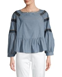 Raga Paityn Embellished Embroidery Blouse - Blue