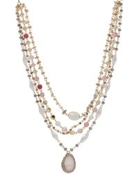 Saachi Marie Mother-of-pearl Layered Necklace - Metallic