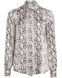 Cinq À Sept Isha Python-print Silk Shirt - Multicolour
