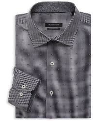 Bugatchi Regular-fit Dress Shirt - Black
