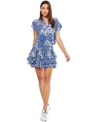 MISA Los Angles Eloisa Tiered Ruffle Dress - Blue