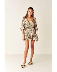 Suboo - Shirred Wrap Mini Dress - Lyst