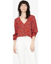 Sanctuary Clothing Noelle Smocked Sleeve Blouse Red Hot Leopard