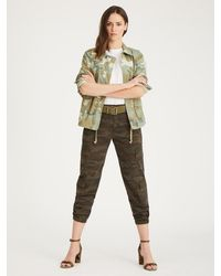 Sanctuary Morgan Jacket Desert Sage Camo - Green