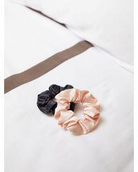 Sanctuary Medium Satin Scrunchie 2 Pack - Pink