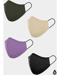 Sanctuary 4 Pack Organic Cotton Washable Ppe Masks Most Loved Solids - Multicolor