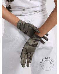 Sanctuary New 2 Pack Antibacterial Fashion Ppe Gloves Heritage Camo - Black