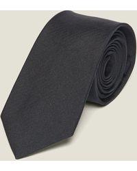 Sandro Cravate classique en twill de soie - Noir