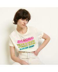 Sandro T-shirt à message - Rose