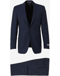 Canali Pinstripe Wool Suit - Blue
