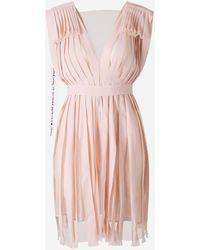 Stella McCartney Vestido Pliegues Lazo - Rosa