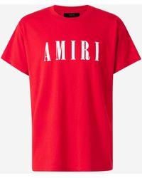 Amiri Camiseta Logo - Rojo