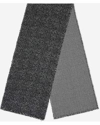 Canali Wool And Cashmere Scarf - Grey