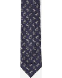 Brioni Tie And Pocket Square Set - Blue