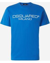 DSquared² Camiseta Algodón Logo - Azul