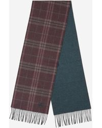 Canali Fringed Check Scarf - Multicolour