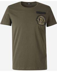Balmain Camiseta Insignia Bordada - Verde