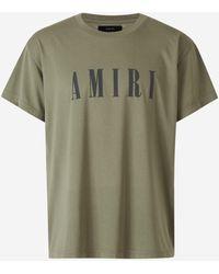 Amiri Camiseta Logo - Verde