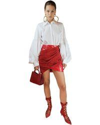 Sara Battaglia Mini Skirt - Red