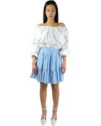 Sara Battaglia Mini Skirt - Blue