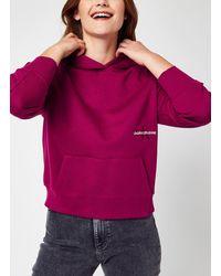 Calvin Klein Off Placed Monogram Crew Neck - Multicolore