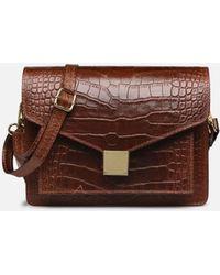 Georgia Rose Macroco Leather - Marron