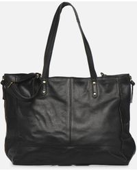 Pieces Laya Leather Shopper - Negro