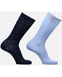 Sarenza Wear Chaussettes Pack de 2 : Carreaux Coton - Blau